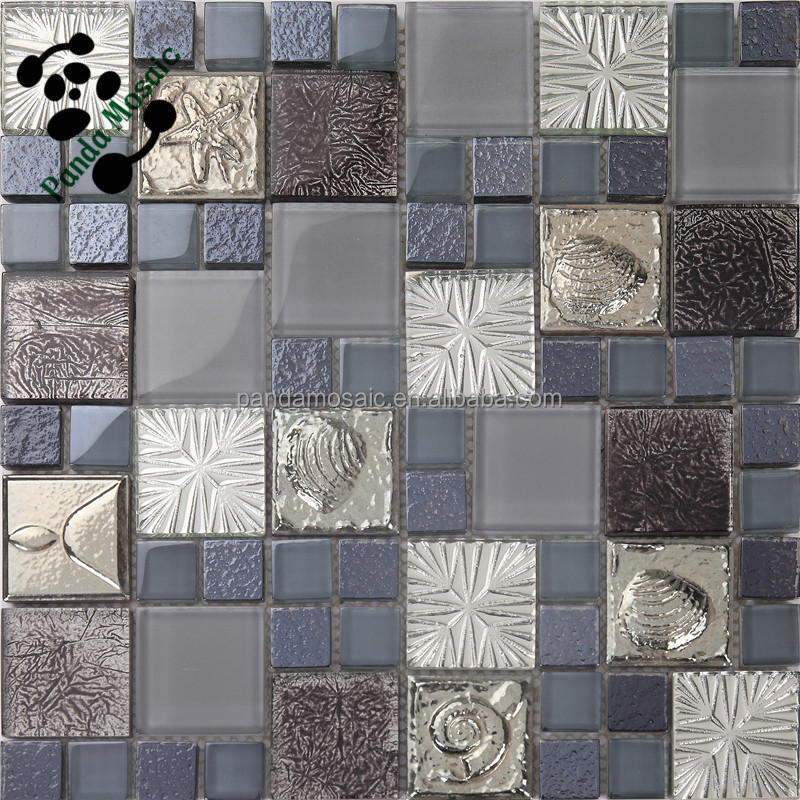 Smp19 wallpaper mosaic kitchen tile 3d marble mosaic tiles for Bathroom tile stickers
