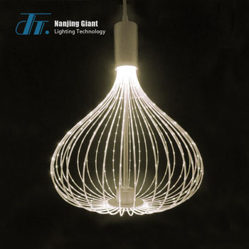 Birdcage shaped led white <strong>modern</strong> decorative hanging pendant light