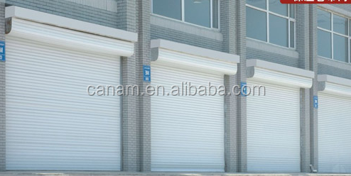 Aluminum commercial garage sliding door
