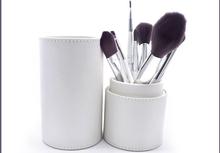 Own Brand 7 Pcs Beauty Makeup Brushes Kit Studio Holder Tube Convenient Portable Leather Cup
