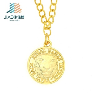 wholesale 3d 999 gold plating zinc alloy charm pendant custom round metal charms tags