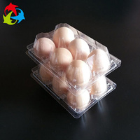 Food Grade Disposable Clear Biodegradable Plastic Egg Cartons