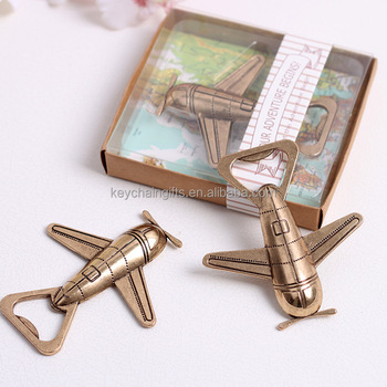 Promotion gifts metal beer airplane shape bottle opener