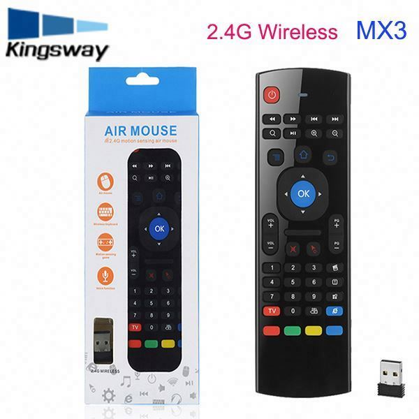 Qwerty-toetsenbord voice functie 2.4g air mouse voor MXG Pro android tv box