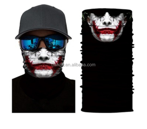 Multifunctional Tubular Polyester Tube Face Mask Skull Custom Bandana