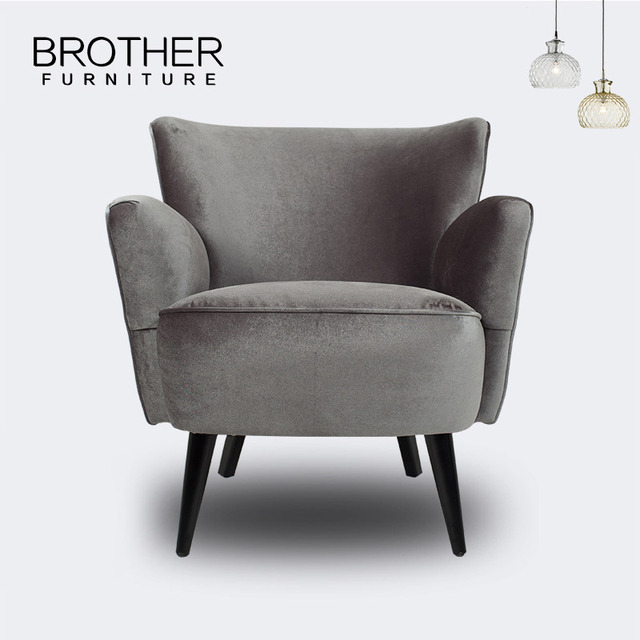 Luxury Comfortable Bedroom Chairs Upholstery Fabric Sofa Accent Armchair