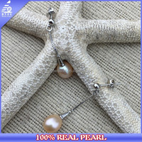 the newest fashion 926 Sterling silver pearl earring wholesale