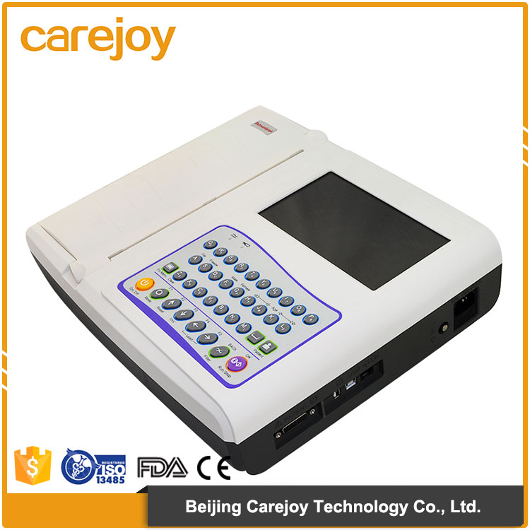 Hospital and clinic used Standard 12 leads portable ecg machine with CE,FDA marked
