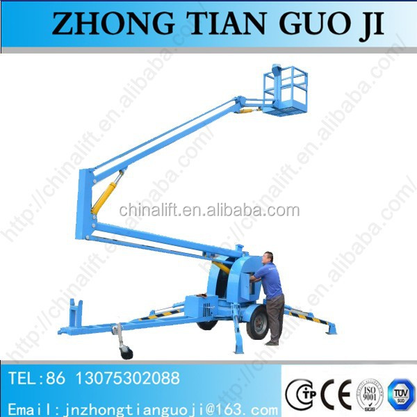 Discount price of mobile trailer towable spider aerial working boom lift price
