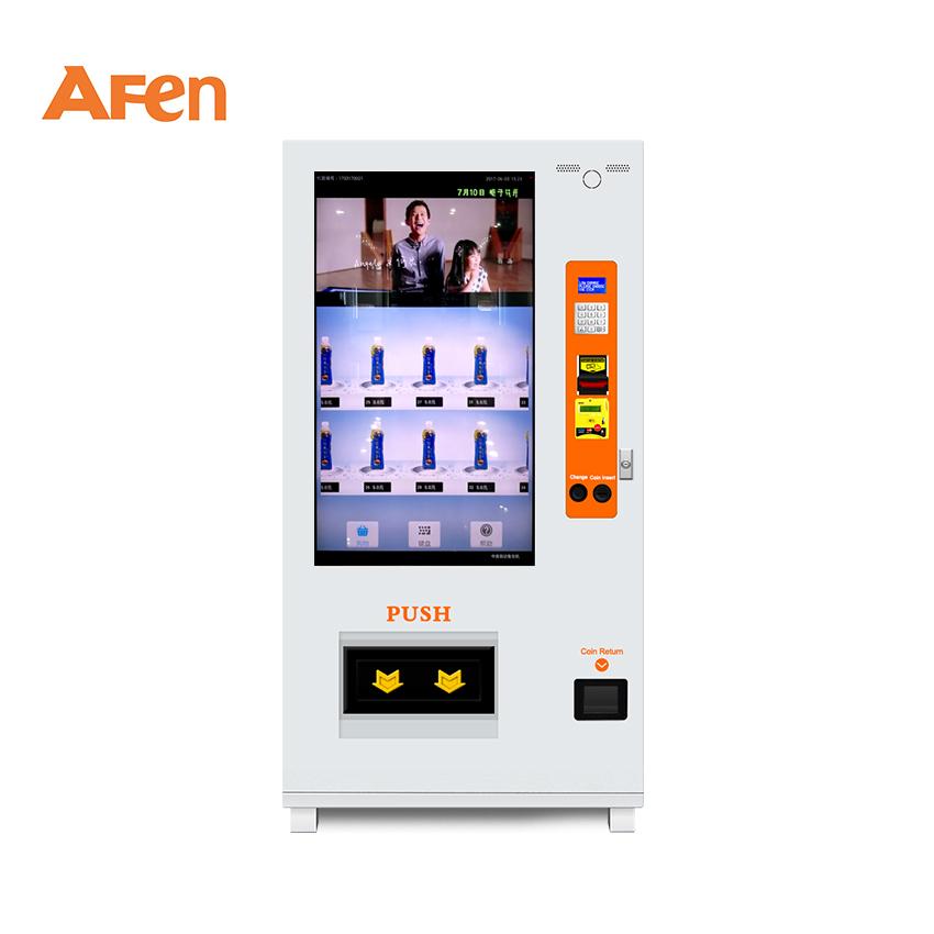 AFEN タッチ液晶インタラクティブヨーグルト新鮮なミルクピーナッツミネラル水自動販売機画面