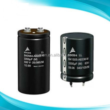 High voltage 500v 2200uF aluminium electrolytic capacitor