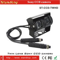 Dual Camera IR Night Vision Lights Sony CCD Camera For Truck