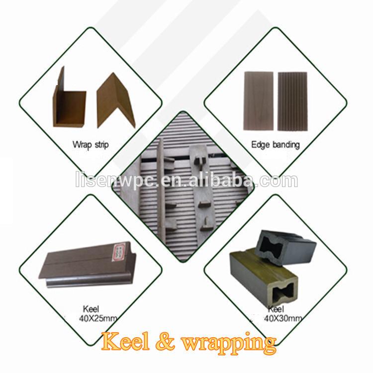 Scientific extrusion anti slip easy install composite for 3m composite decking boards