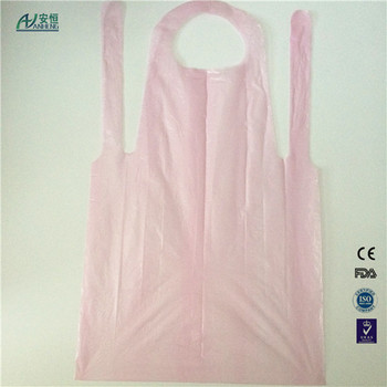 Anheng Brand Hdpe Ldpe Pvc Disposable Aprons Customized Color With ...
