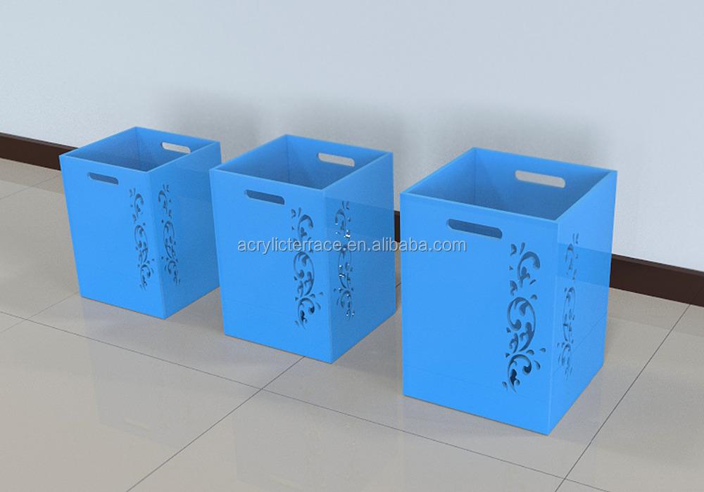 perspex waste basket,acrylic trash bin - buy plastic waste bin