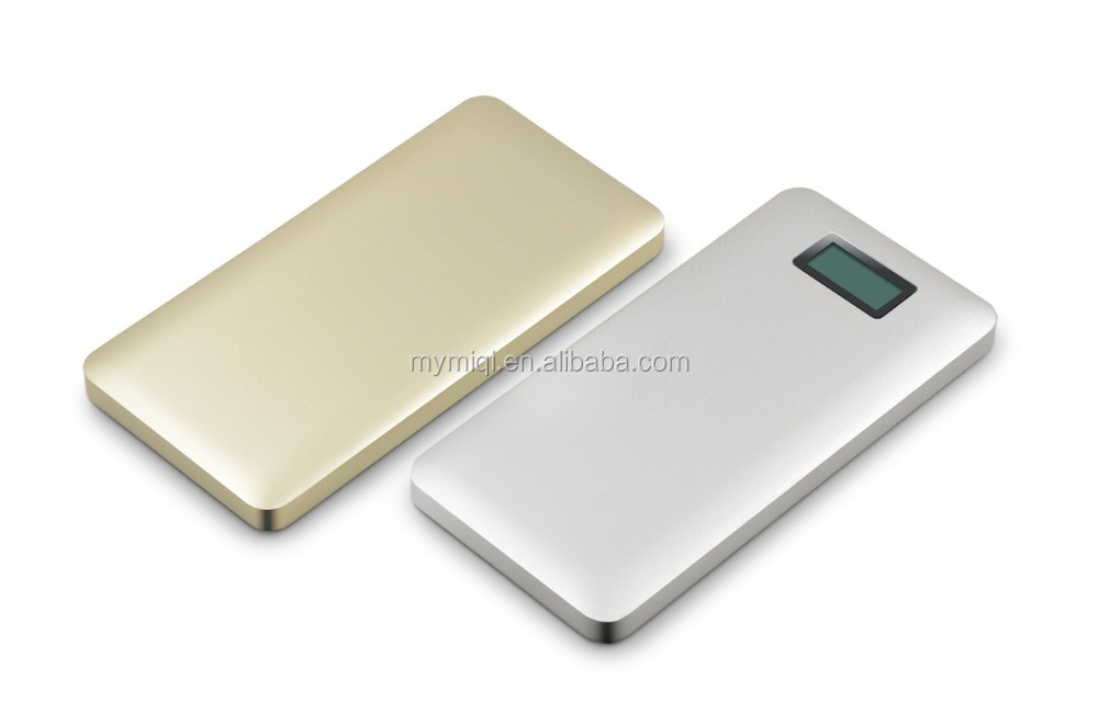 10000mah portable 2 usb long life card power bank