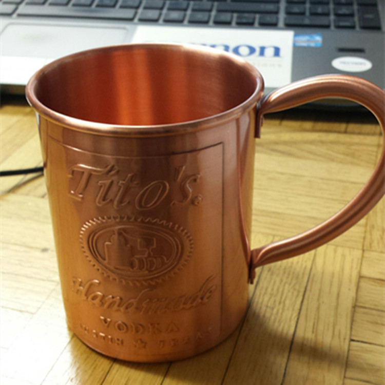 Whole Moscow Mule Coffee Mug Cup Aluminum Customized Laser Logo Pure Copper