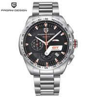 Pagani 2641 Current Movt Quartz Watch Men Leather Band Chronograph Online Wholesaler Wristwatch Chronograph Stainless Steel Case