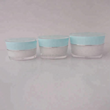 cosmetic packaging manufacture frosted round jar cream tapered plastic acrylic jar for cream 15g 30g 50g