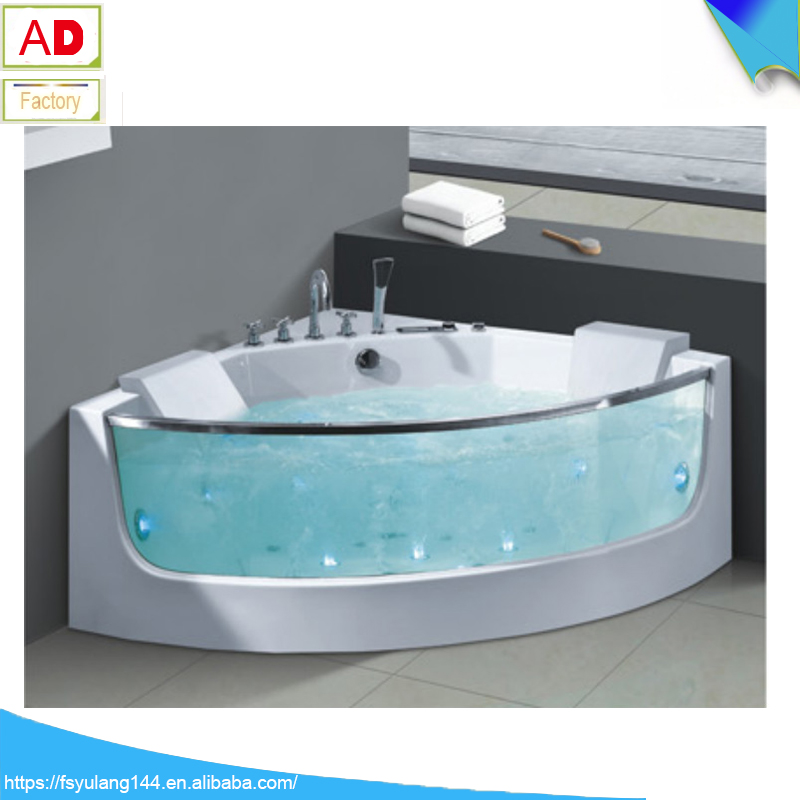 Ad-625 Guangzhou Sanitary Ware Jakozzi Bathtub With Glass 2 Person ...