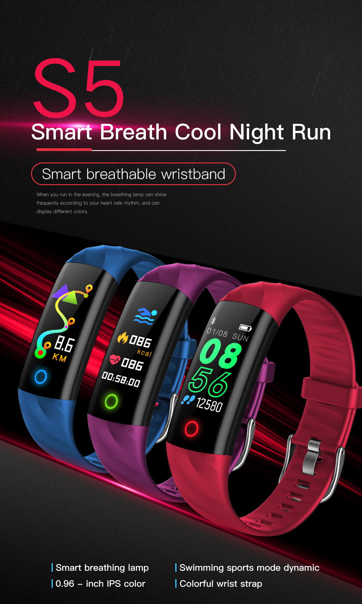 Healthy Gps Smart Band Watch Contains Many Factions With