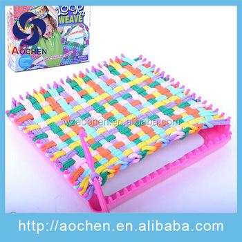 Diy Craft Kit Weaving Loom Bag Knitting Kit For Girls Buy Diy Knit Set