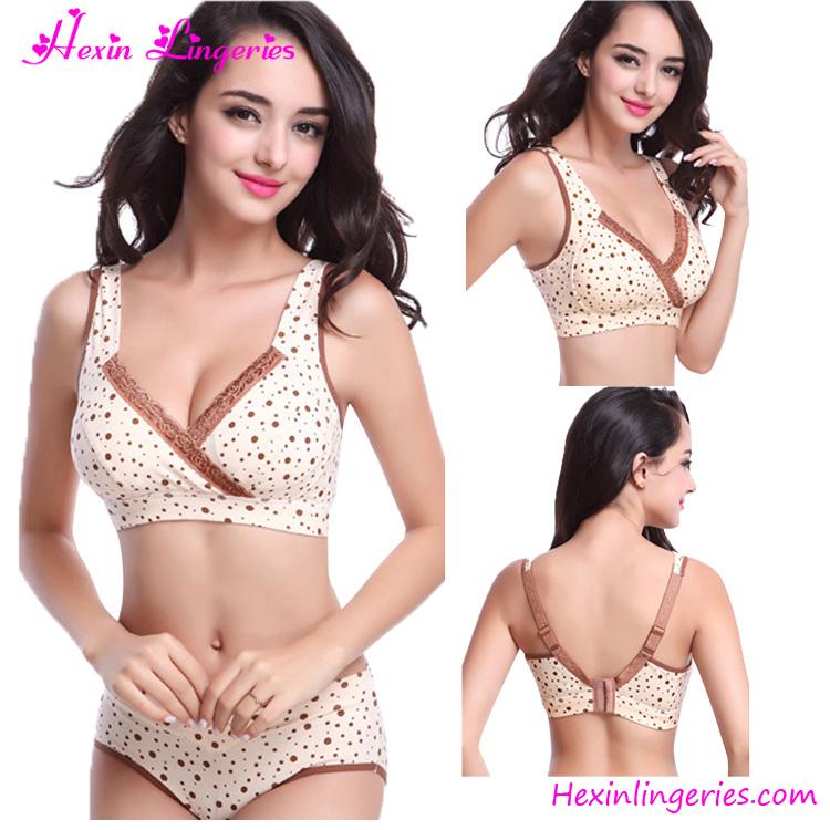 320cfe6a8 China Factory Brown Cotton Maternity Underwear Sets Sexy Nursing Bra - Buy  Sexy Nursing Bra