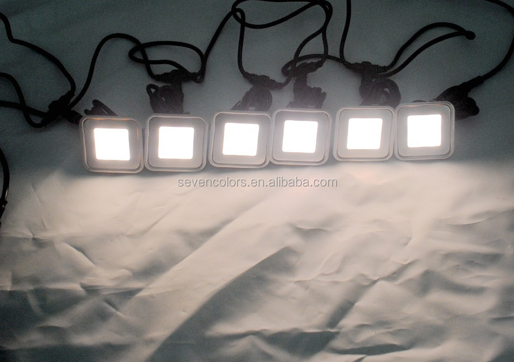12v Outdoor Square Led Plinth Lights Floor Lights Veranda