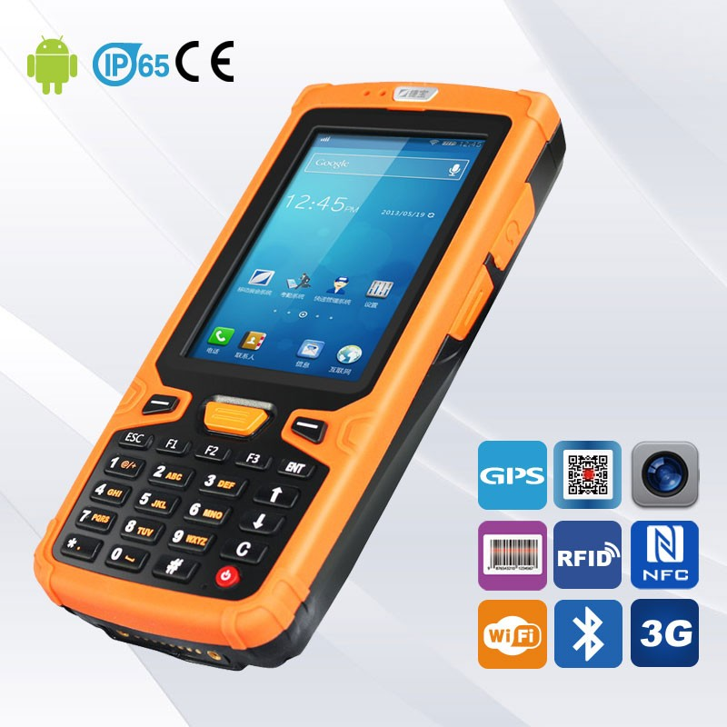 4000mah rechargeable battery barcode rugged handheld pda android scanner