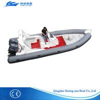 Rigid hull inflatable boat(RHIB) fiberglass inflatable boat