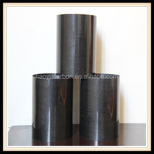 Large diameter carbon fiber tube connectors
