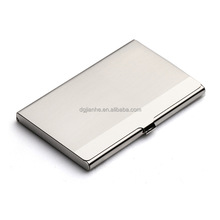wholesale custom laser logo thicker stainless steel credit business name card holder