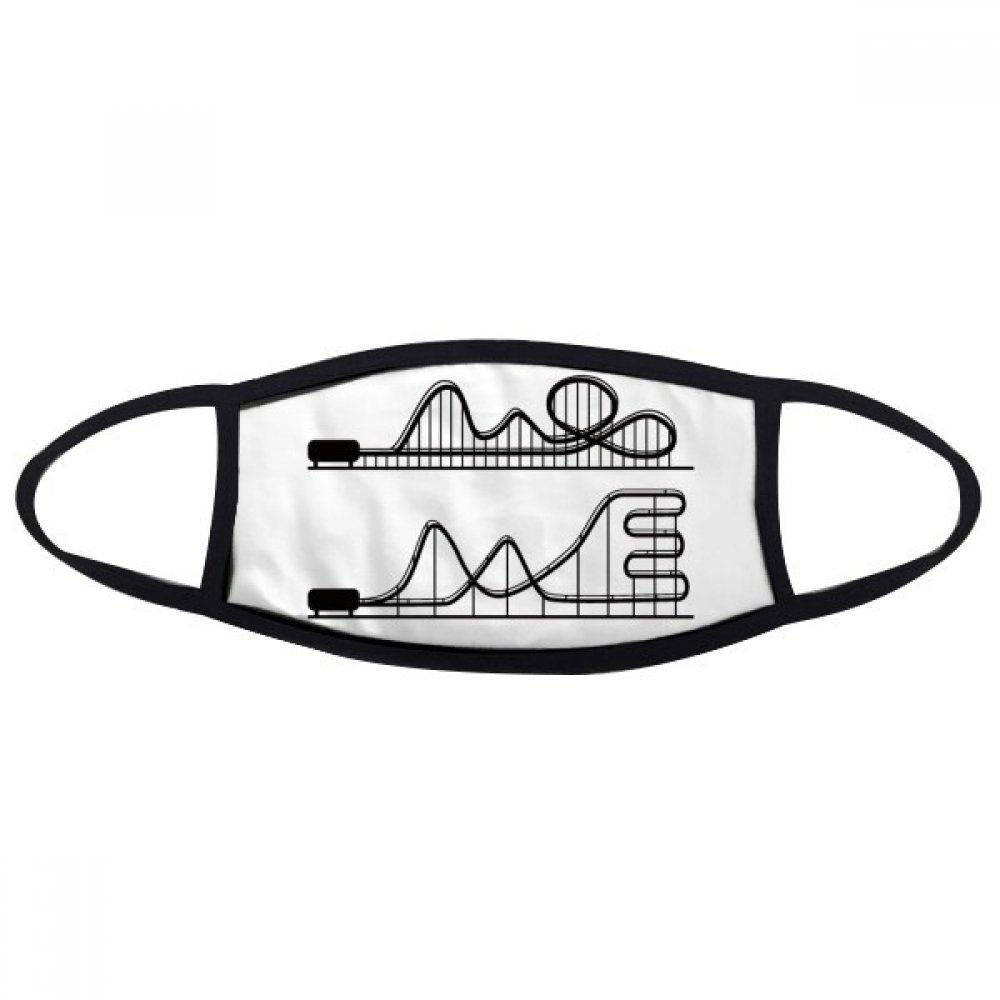 DIYthinker Amusement Park Black Roller Coaster Silhouette Mouth Face Anti-dust Mask Anti Cold Warm Washable Cotton Gift