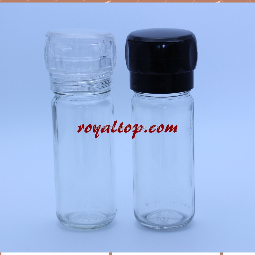 hot sell grinder and shaker caps use for one bottle plastic salt and pepper shakers