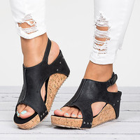 A0686T New goods fashion women platform sexy ladies fancy high heel wedge sandals shoes