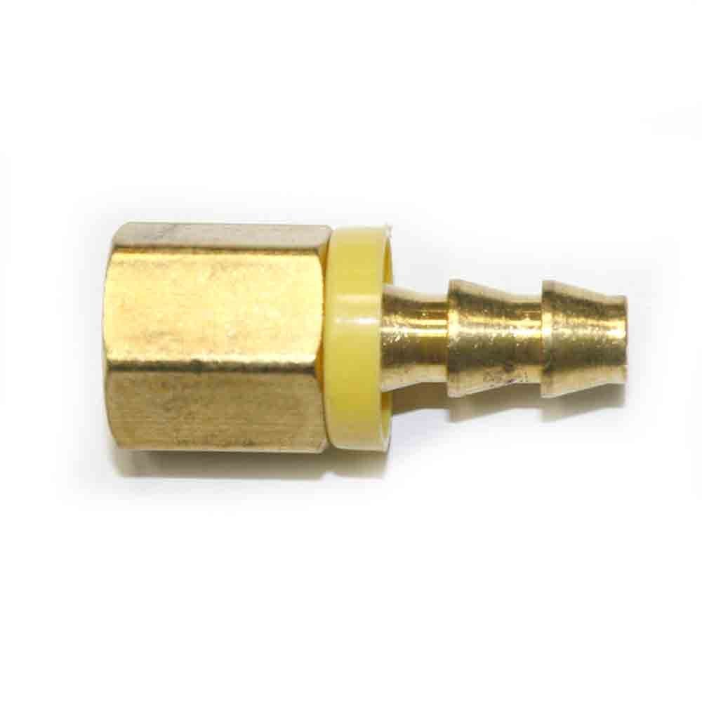 Interstate Pneumatics FL044 Easy Lock Brass Hose Fittings, Connectors, 1/4 Inch Push-Lock Barb x 1/4 Inch Female NPT End