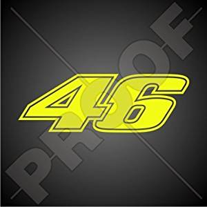 27cm x 21cm Sticker with Laminated Screen Printed Compatible with Valentino Rossi Sheet A 4 23 Stickers Ref.5
