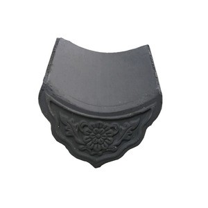 Building Material Chinese Style Grey Clay Roof tiles Kerala Ceramic Roof  Tiles Price