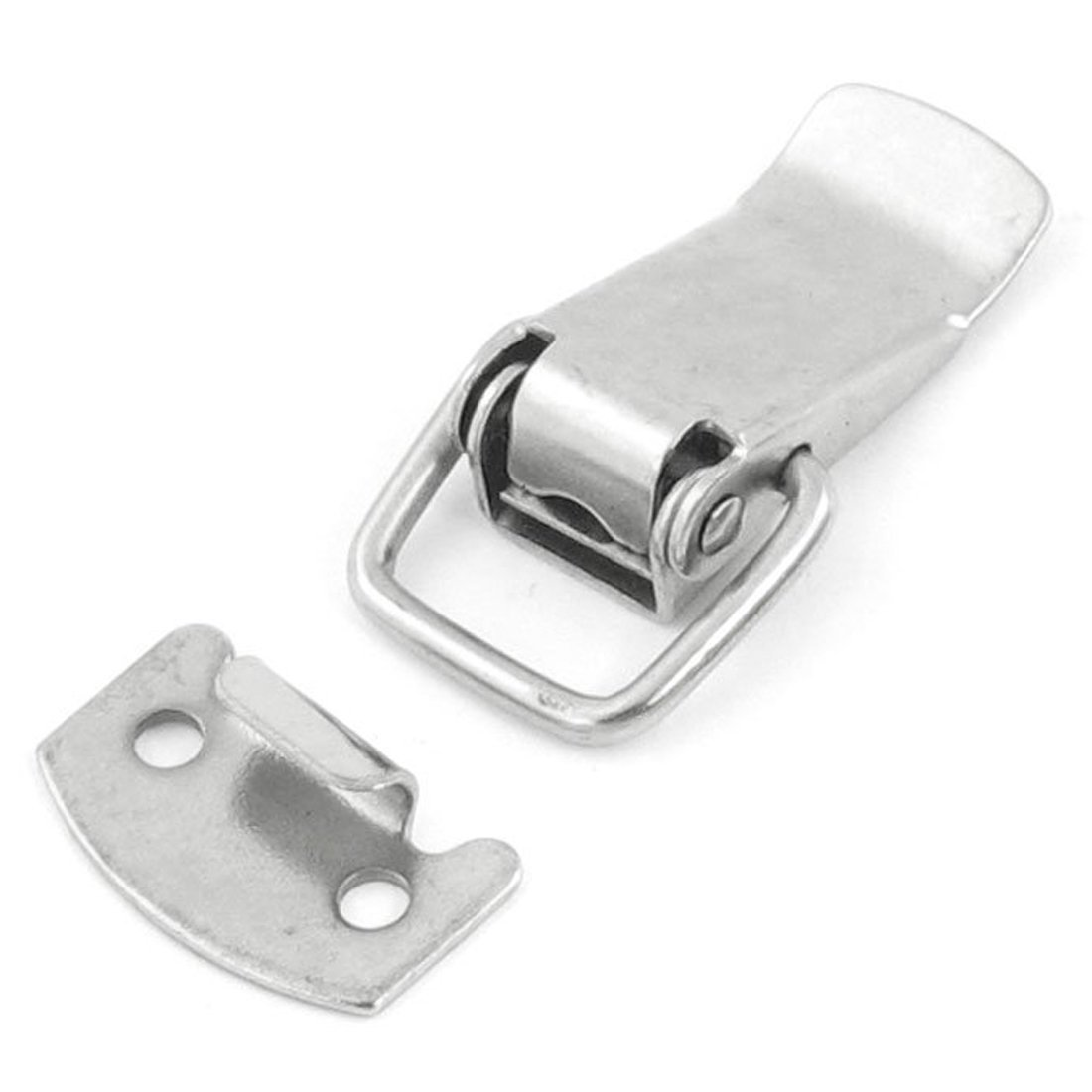 Uxcell a11121000ux0133 Box Chest Spring Loaded Stainless Steel Draw Toggle Latch