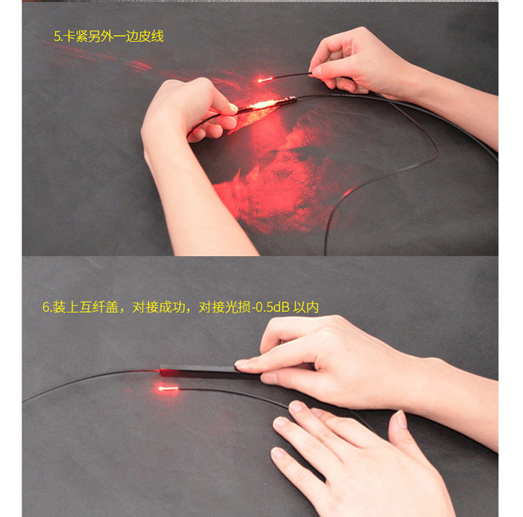 Waterproof FTTH Fiber Optic Mechanical Splice for Drop Cable