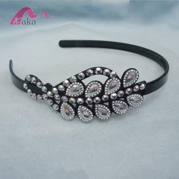Fancy Design Bulk Plastic Crystal Stone Headbands ef0dc20d873
