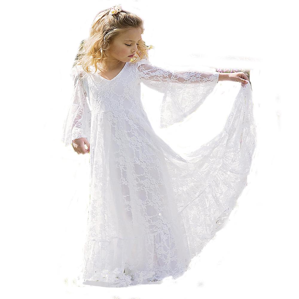 f27a233dc Nueva de moda hecho a mano de encaje de tul vestidos de primera comunión  para niñas