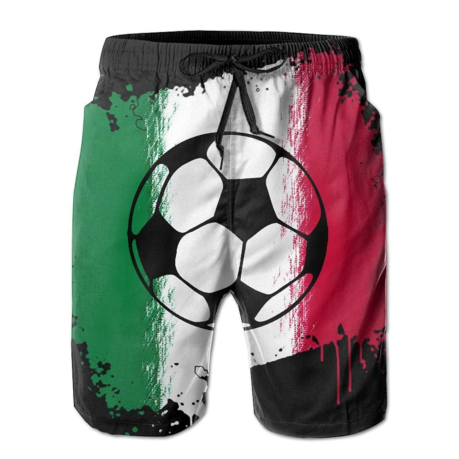 fd775a36ba8 Get Quotations · Game Life Shorts Italian Flag Football Mens Tree Quick Dry  Swim Trunks Beach Shorts with Mesh