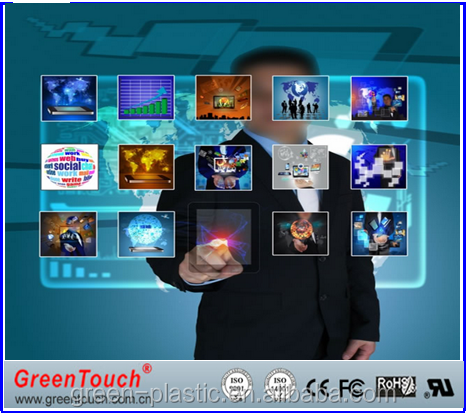 Factory price 1.524*30m Rear Projection Screen Film/Self Adhesive 55inch transparent screen touch Window Glass screen
