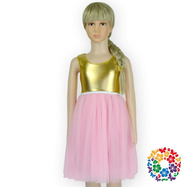 Fashion Kids Party Wear Girl Dress,Children Evening Sleeveless Gold ...