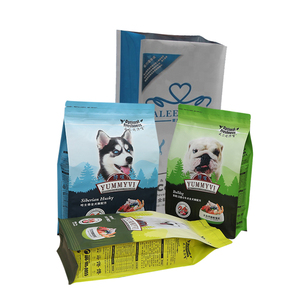 Factory Customized Wholesale Flat Bottom side gusset top pet food packaging bag