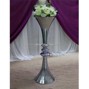 Big Size Trumpet Shape Metal Floor Standing Vases Large Metal Floor