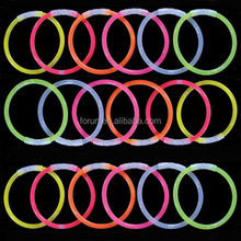 Hot Selling High Quality Neon Glow Sticks/8'' glow stick bracelets/glow stick bracelet