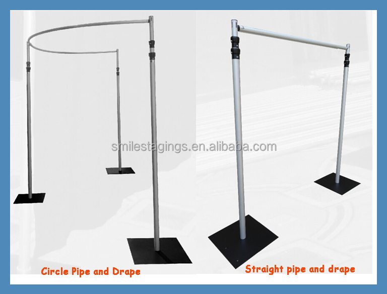 Pipe And Drape Stands Wedding Backdrop Curtains Flower