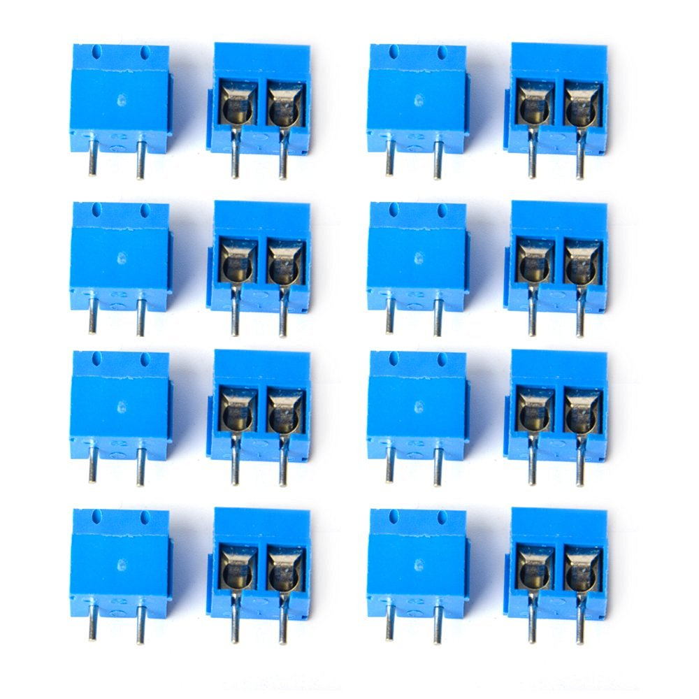 Greatwell 20pcs KF301-2P 2 Pin Plug-in Screw Terminal Block Connector 5.08mm Pitch